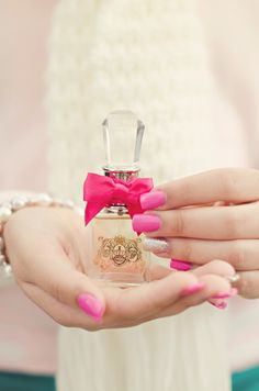 Pink Nails, Closeup Photography, Perfume Photography, Christmas Gifts