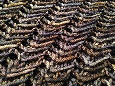 Lovely stitch.  Ravelry: One Skein Slant pattern by Lisa Dykstra