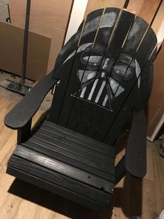 Darth Vader Adirondack Chair Painted Version Star Wars By