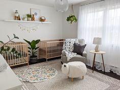 Twin Baby Rooms, Toddler And Baby Room, Baby Bedroom, Baby Room Decor, Twin Boy Nurseries, Baby Cribs For Twins, Twin Room, Twin Babies, Ikea Sniglar Crib