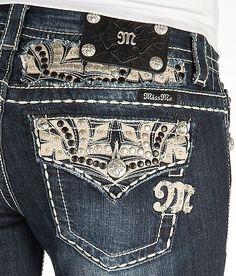 'Miss Me Embellished Boot Stretch Jean' #buckle #fashion www.buckle.com