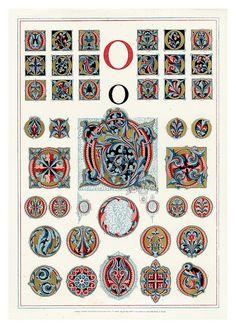 Owen Jones Illuminated Letters, gilt prints of the alphabet from 1864 Alphabet Art, Letter Art, Illuminated Letters, Illuminated Manuscript, Owen Jones, Art Nouveau Pattern, Decoupage, Calligraphy Letters, Caligraphy
