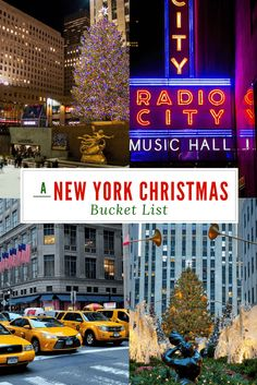 A New York Christmas Bucket List! Check out our list of can't miss Holiday activities in New York City!