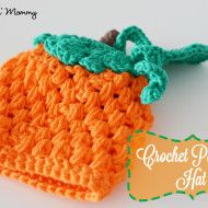 Crochet pumpkin hat - Free pattern