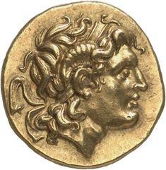 Statere - oro - Tracia (297-281 a.C.) - recto: testa di Alessandro III con diadema e corna di Ammone - Münzkabinett der Staatlichen Museen Berlin