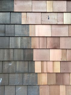 Dark shingles vs. original cedar.