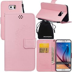 DRUnKQUEEn S6 Edge Plus Case, Galaxy S6 Edge Plus Case, Wallet Case with Cellphone Holder - PU Leather Cover Purse Slim Fit Card Slot for Samsung Galaxy S6EdgePlus G928 * Remarkable product available now. : Dog Training and Behavior Aids