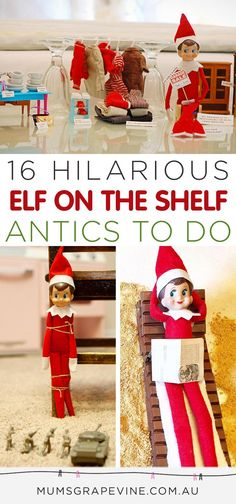 More hilarious Elf on the Shelf antics to stage