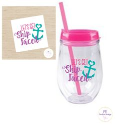 Let's Get Ship Faced decal for wine glass / DIY Decal /  Tumbler Decal / Bachelorette Party by PBCreativeDesigns on Etsy