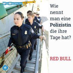 Polizeiwitze - Polizistenwitze - Red Bull - Polizistin
