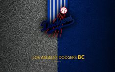 Download wallpapers Los Angeles Dodgers, 4K, American baseball club, National League, Western Division, leather texture, logo, MLB, Los Angeles, California, USA, Major League Baseball, emblem