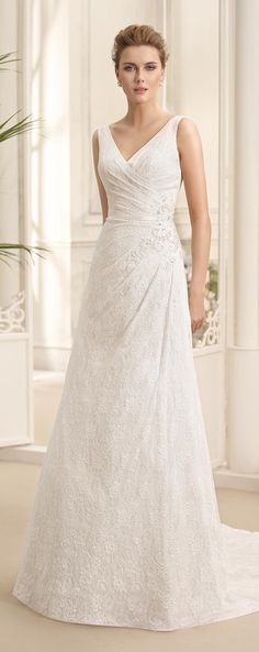 Lace A- Line Wedding Dress by Fara Sposa 2017 Bridal Collection Designer: Fara Sposa SEE POST SEE GALLERY