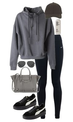 """Untitled #744"" by minhie-inspiration ❤ liked on Polyvore featuring NIKE, adidas Originals, Puma, Michael Kors, Balenciaga and Whistles"