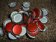 crown caps pk 100 red homebrewing by TheHomeBrewShop on Etsy