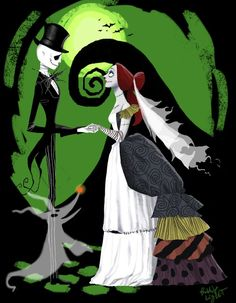 Nightmare Before Christmas- Jack and Sally Wedding by Phillip Light