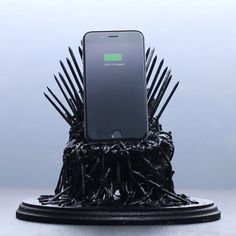 Iron Throne Phone Dock So cool! But, that's a lot more work than I'm likely to do.