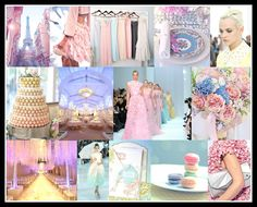 by Preston Bailey-Theme: J'taime Paris  Mood: French Spring  Palette: Pastel Pink, Robin's Egg Blue, Daisy Yellow