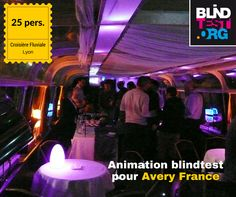 Animation blindtest croisière fluviale Avery (25 pers.), Lyon