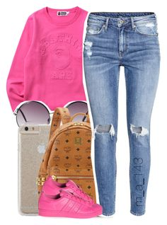 """""""3-18-16 """" by mindlesslyamazing-143 ❤ liked on Polyvore featuring Monki, Case-Mate, MCM, H&M and adidas"""