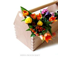 Our wooden toolbox, or flowerbox ;)