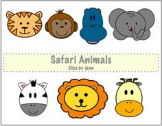 Safari Animals Freebie {Graphics for Personal & Commercial Use}-adapt for speech