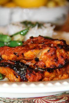 Tandoori Chicken with Cilantro Yogurt Sauce