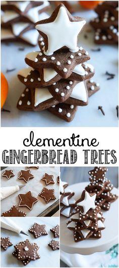 Clementine Gingerbread Cookie Trees ♥ http://bakeat350.blogspot.com