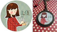Medallón ILSE-La factoría de Nono Lockets, Illustrations