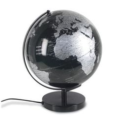 Bola del mundo con iluminación interior