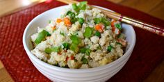 Chicken and Cauliflower Fried Rice | 21 Day Fix Containers: 1 Green, 1 Red, 1 Tsp