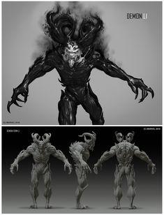ArtStation - Spiderman concepts, Daryl Mandryk Character Concept, Character Art, Character Design, Concept Art, Marvel Vs, Marvel Comics, Spider Man Ps4, Alien Design, Cool Monsters