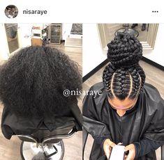 Hair braid updo in 2020 Black Hair Updo Hairstyles, Goddess Hairstyles, African Braids Hairstyles, Girl Hairstyles, Goddess Braids Updo, Black Girl Braids, Braids For Black Hair, Girls Braids, Curly Hair Styles