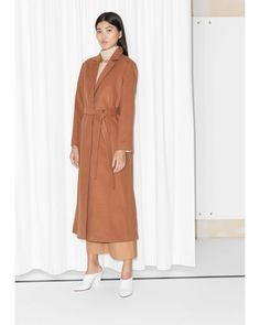 & Other Stories | Brown Long Waisted Wool Coat | Lyst