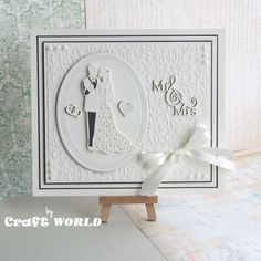 Uses the new Sue Wilson Die: Shadow Box Collection - Mr & Mrs (CED9304) & Special Occasion Collection - The Happy Couple (CED9401)