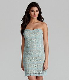 Olivia....dress   Gianni Bini Andrea Strapless Lace Dress #Dillards