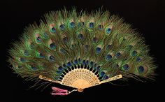 Peacock feather fan ca. 1915