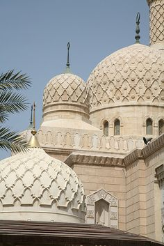 Mosque domes, Dubai UAE   - Explore the World with Travel Nerd Nici, one Country at a Time. http://TravelNerdNici.com