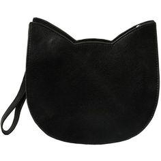 The Whitepepper Faux Leather Cat Crossbody handbag