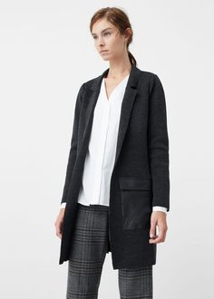 Contrast pockets cardigan - Cardigans and sweaters for Women | MANGO USA