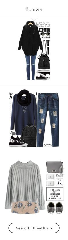 """""""Romwe"""" by scarlett-morwenna ❤ liked on Polyvore featuring Converse, Bobbi Brown Cosmetics, NARS Cosmetics, MAKE UP FOR EVER, Givenchy, modern, vintage, Make, Badgley Mischka and Shimrock"""