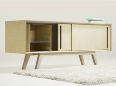Bb Sideboard is a minimalist design created by Germany-based designer Branka Blasius. Bb sideboard is inspired by works of artists Diether Roth and Donald Judd. It is made of birch plywood. In the initial state, the interior is completely empty. The user can combine up to four different modules organizing the inner space of it- supply it with drawers or a horizontal / vertical partition. (4)