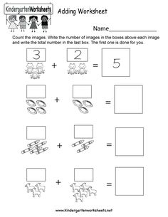 Fall Math Worksheet - Free Kindergarten Seasonal Worksheet for Kids Pre K Math Worksheets, Kindergarten Addition Worksheets, Addition And Subtraction Worksheets, Math Addition, Reading Worksheets, Kindergarten Fun, School Worksheets, Maths, Preschool Math