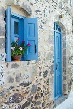 Nisyros island, charming facade