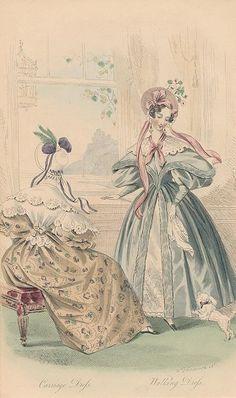 1834 - Carriage Dress, Walking Dress - Court Magazine