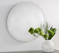 Turner Round Mirror #mypotterybarn perfect for dining room or entry way above console table!