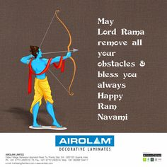May Lord Rama remove all your obstacles & bless you always - Happy Ram Navami Ramnavmi Wishes, Ram Navmi, Happy Ram Navami, Remove All, Perfect Man, Shiva, In The Heights, Celebrations, Blessed