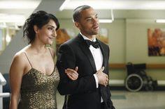 Rebecca Hazlewood and Jesse Williams in Grey's Anatomy