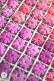 Felted Button - Colorful Crochet Patterns: Painted Pixels Blanket Crochet Pattern!!