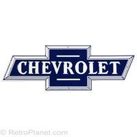 Rumor has it that Chevrolet co-founder William C. Durant tore a piece of wallpaper from a Paris hotel room, inspired by its pattern to create the famous Chevrolet bowtie design. True or not, you can be sure this oversized metal version of the famous Chevrolet Silverado, Chevrolet Logo, Concert Signs, Car Signs, Garage Signs, Garage Art, Garage Ideas, Chevy Girl, Chevy Luv
