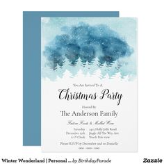 Winter Wonderland | Personal Christmas Invitation Christmas Invitations, Jingle All The Way, You Are Invited, Party Hats, Winter Wonderland, Rsvp, Xmas, Holiday, Prints
